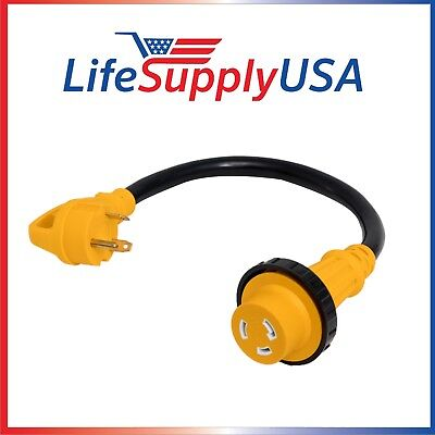 10/3 AWG 125 V STW 30 AMP RV Cord w/ TWIST-LOCK & Handle (TT-30P/L5-30R) 30 FEET 30 Amp 10/3 Stw Cord