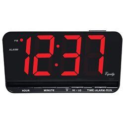 30402 Equity by La Crosse Large 3 LED Digital Alarm Clock Dimmer - Refurbished