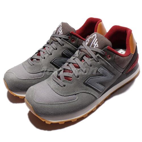 purchase cheap 14ed2 a6d58 Мужская спортивная обувь New Balance ML574NEB D Collegiate Grey Red Mens  Retro Running Shoes ML574NEBD