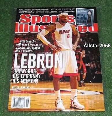 2012 LEBRON JAMES~MIAMI HEAT~SPORTS ILLUSTRATED~NBA FINALS MVP~NBA (Lebron James 2012 Finals Mvp Miami Heat Champions)