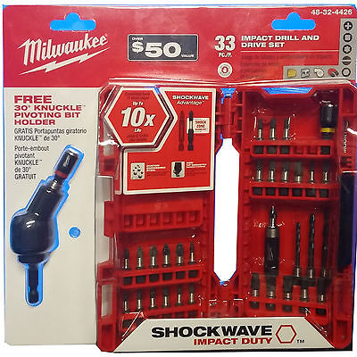 33pc Shockwave Impact Drill and Drive Set Milwaukee 48-32-4426 New