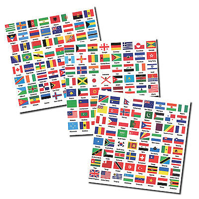 Flags of the World Labels / Stickers