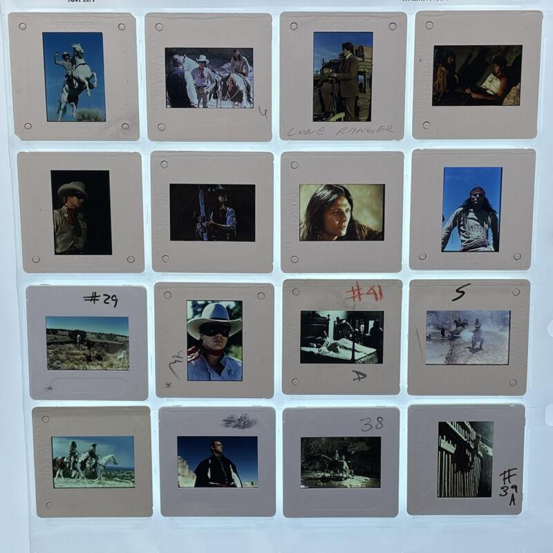 Legend of the Lone Ranger Movie 35mm Slides Press Kit Promo Vtg Lot of 16