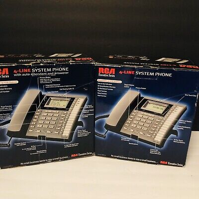 Rca Model 25404re3-a Executive Series 4-line Business Phone Quantity Of 2.