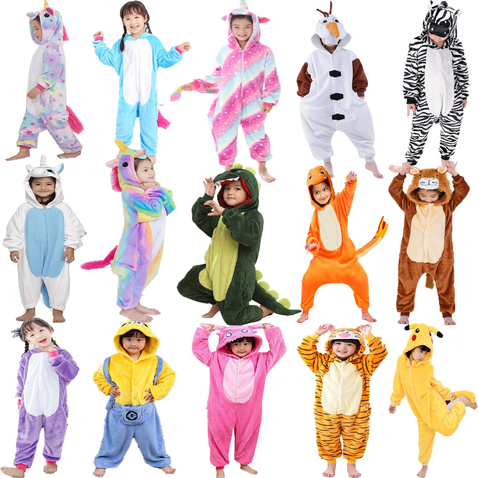 Onesie00 Pokemon Pikachu Pajamas Party Oufits Kigurumi Sleepwear Fancy Dress UK