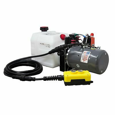 Double Acting Hydraulic Pump For Dump Trailers Kti - 12vdc - 3 Quart Reservoir