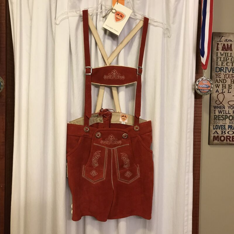 Authentic Childrens German Country Maddox Lederhosen Size 152