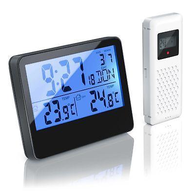 Bearware Funk Wetterstation | Wecker | Uhrzeit | Innen-/ Außentemperatur | DCF ()