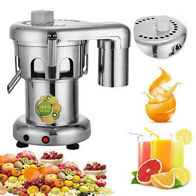 110v Commercial Juicer Stainless Steel Fruit Vegetable Juice Extractor Squeezer