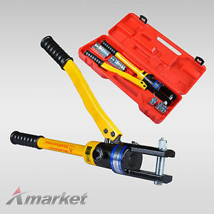 16-Ton-Quick-Hydraulic-Crimper-Cable-Plier-Crimping-Tool-Kit-16-300mm-11-Die