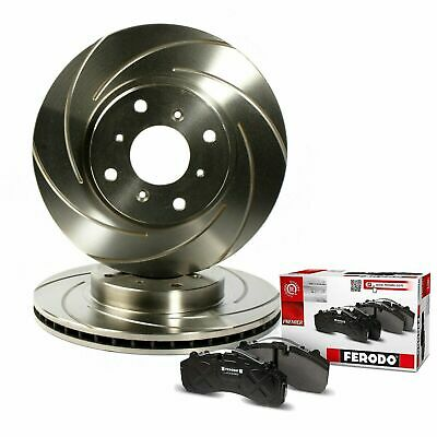 Civic Type R Brake Discs Pads Front Brake Depot Grooved Discs Ferodo Pads FN2