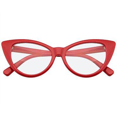 Super Cat Eye Glasses Vintage Inspired Fashion Mod Clear Lens (Vintage Inspired Eyeglasses)