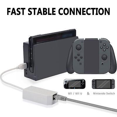 Cable adaptador de red LAN de Internet Ethernet para Nintendo Switch /Wii/...