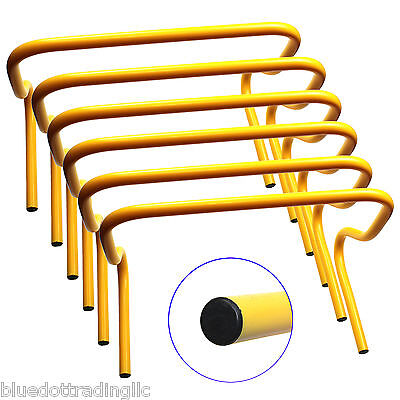 """Speed Agility Training 6/"""" Hurdles Set of 6 Soccer Football Track US SELLER WOW"""