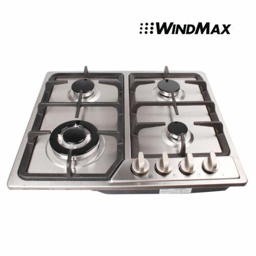 WindMax 23.07'' 4 Burners Built-In Cooktop LPG NG Gas Hob St