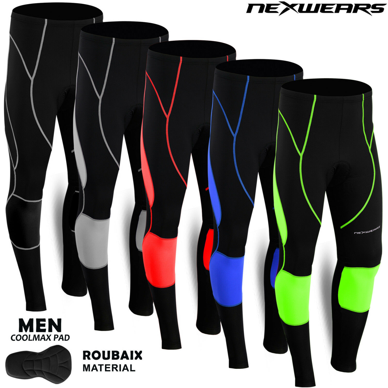 Men Cycling Long Pants Tights Trousers Legging Bicycle Bike