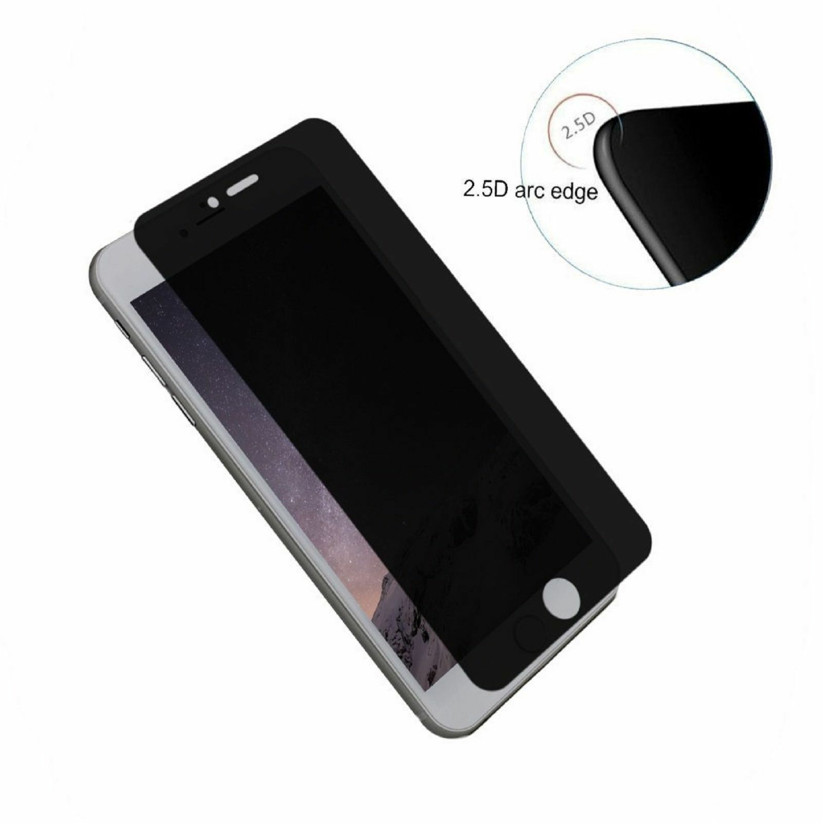 Privacy Anti-Spy Tempered Glass Screen Protector Shield for iPhone 8 / 8 Plus Cell Phone Accessories
