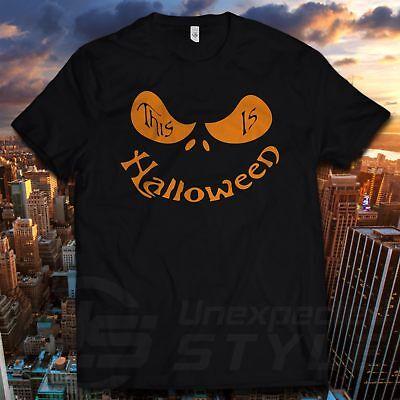 Halloween Kürbis T-Shirt Lustig T-Shirt Kostüm Schädel Herren Damen (Kind Schädel Herr Kostüme)