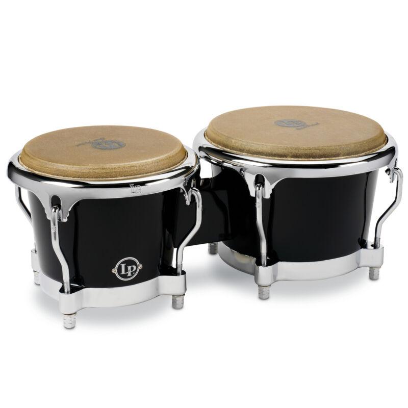 Latin Percussion LP Fiberglass Bongos Black