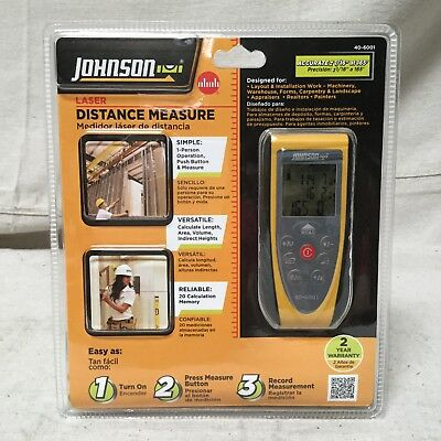Johnson Level Model 40-6001 165ft Laser Distance Measure