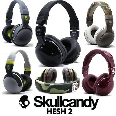 New Skullcandy Hesh 2 2 0 Stereo Headset Supreme Sound Mic Black White