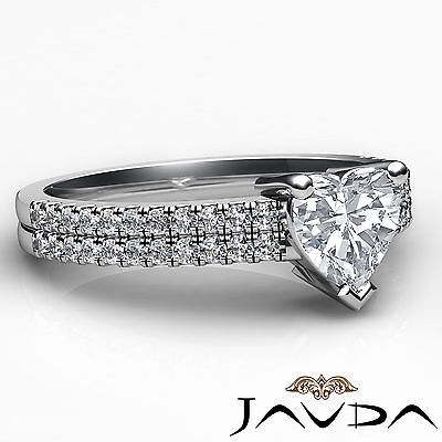 Heart Cut Diamond Engagement Double Prong Set Ring GIA Certified H Color VS2 1Ct 2