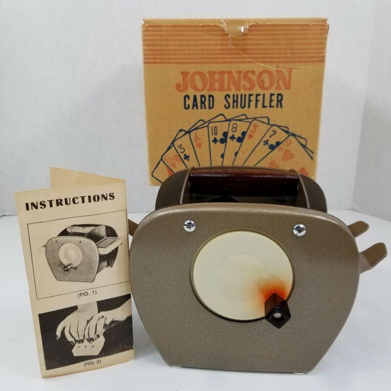 Vintage Nestor Johnson MFG Card Shuffler Model No. 50 w/ Box And Instructions