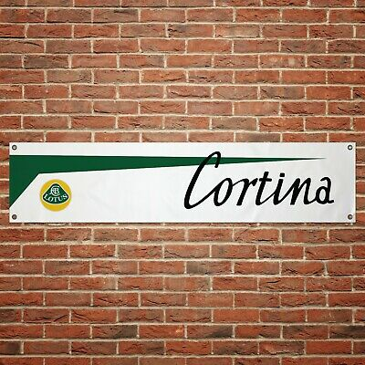 Lotus Cortina Banner Garage Workshop PVC Sign Trackside Display Ford Cortina comprar usado  Enviando para Brazil