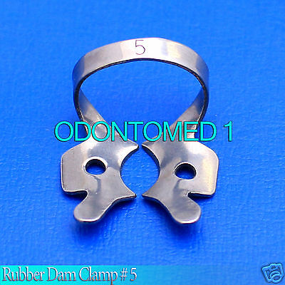6 Endodontic Rubber Dam Clamp 5 Surgical Dental Instruments