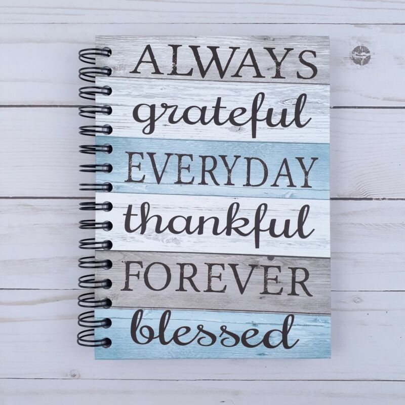 Journal Notepad Notebook Grateful Thankful Blessed Lined Sheets 6.25x8.5