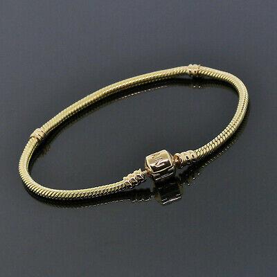 Pandora Solid 14K Yellow Gold Charm Bracelet 550702 8 Inch (8 Inch Pandora Charm Bracelet)