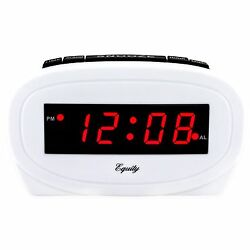 30227 Equity by La Crosse Electric 0.6 Red LED Display Digital Alarm Clock