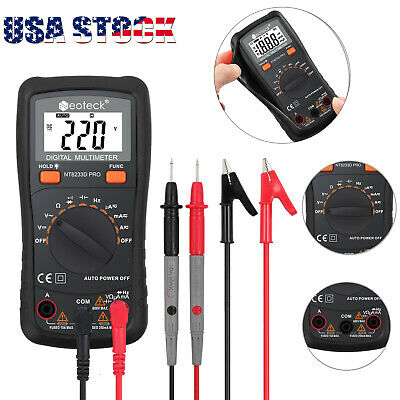Digital Lcd Multimeter Meter Acdc Voltage Tester Voltmeter Backlighttest Leads
