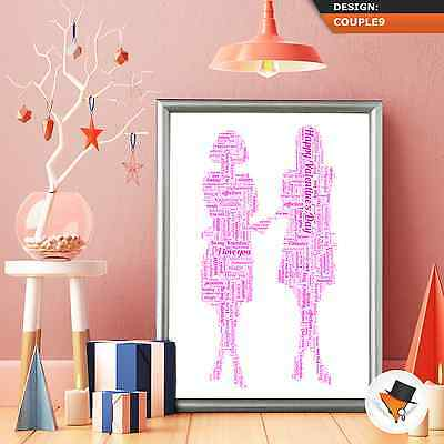 PERSONALISED WORD ART FOR CLOSE BEST FRIENDS AT CHRISTMAS BIRTHDAY XMAS GIFT