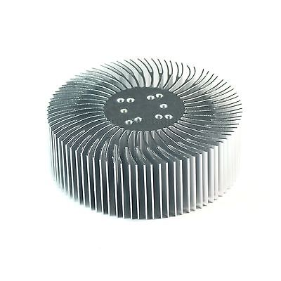 2pcs 3.5x1.2inch Round Spiral Aluminum Alloy Heatsink For 1-10w Led Silver White
