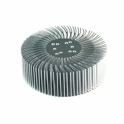 2pcs 3.5x1.2inch Round Spiral Aluminum Alloy Heatsink For 1-10w Led Silver White
