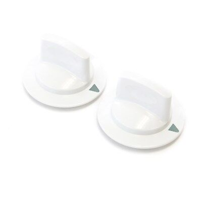- 2 White Dryer Timer Control Knobs Fits General Electric Hotpoint RCA WE1M652