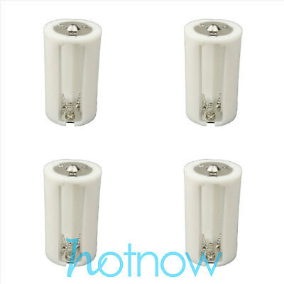 4 pcs Parallel Adapter Battery Holder Case Box Convertor 3 AA/LR6 to 1 D Size