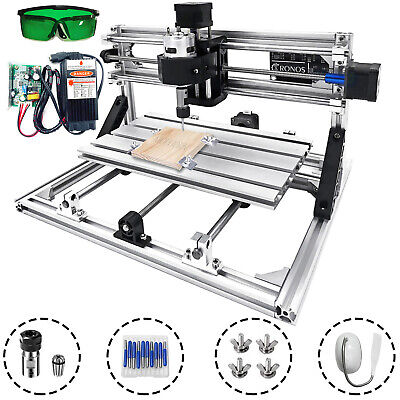 Cnc 3018 Mini Woodworking Laser Engraver 3 Axis Router Kit 5500mw Laser Moudle