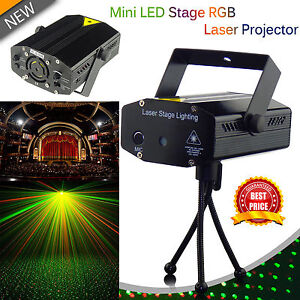 Mini LED Stage laser Light Red & Green Star Projector Strobe DJ Disco Party UK