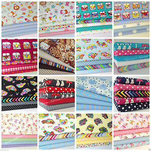 Childrens nursery themed fat quarter bundles 100 cotton for Childrens fabric bundles