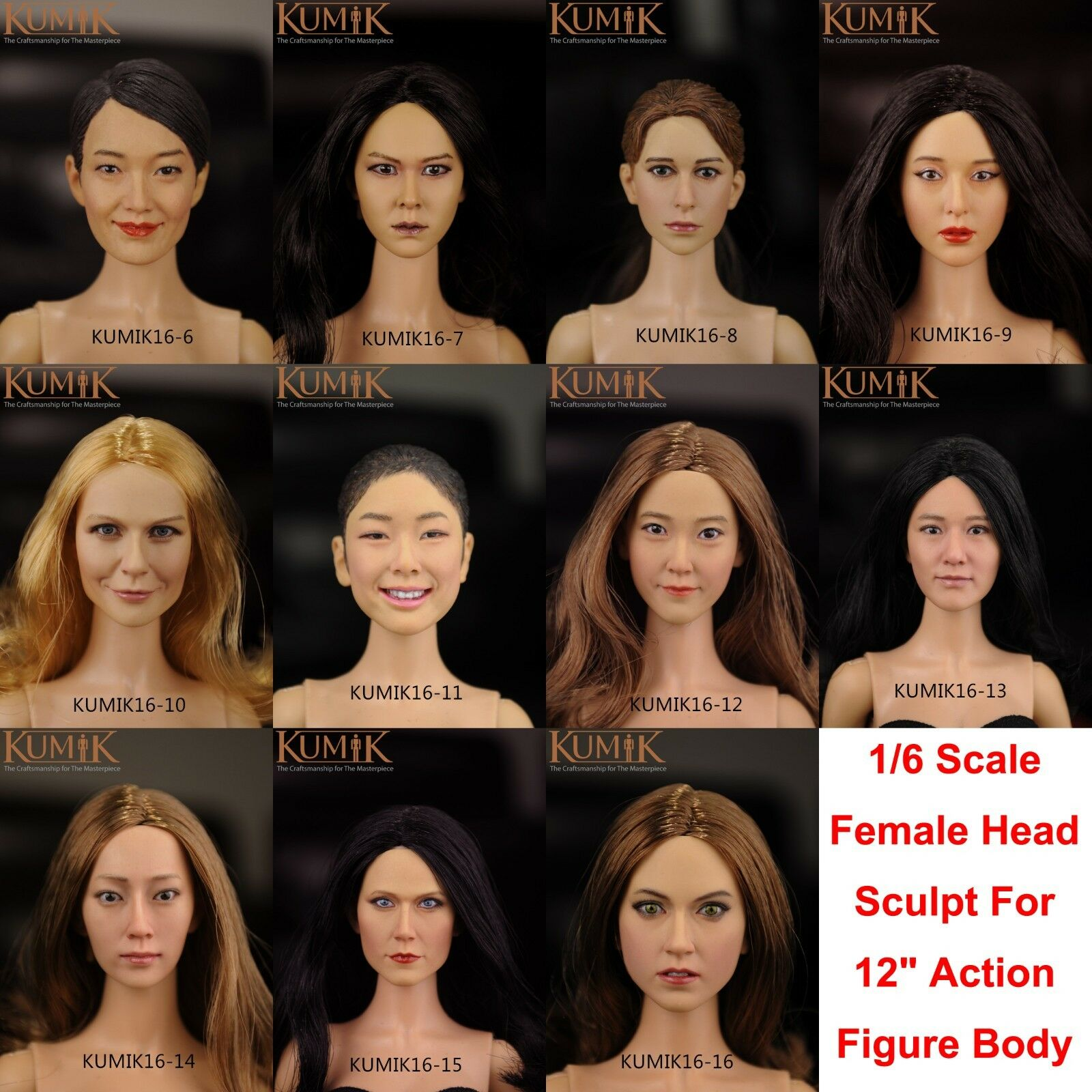 """1:6 Scale HP0054 Man Male Head Sculpt Toy Gift for 12/"""" Phicen Male Action Figure"""