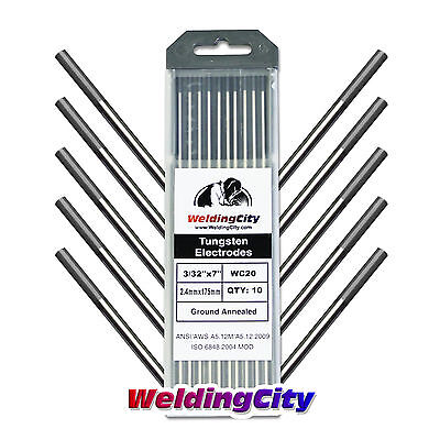 10-pk Tig Welding Tungsten Electrode 2 Ceriated Gray 332x7 Us Seller Fast