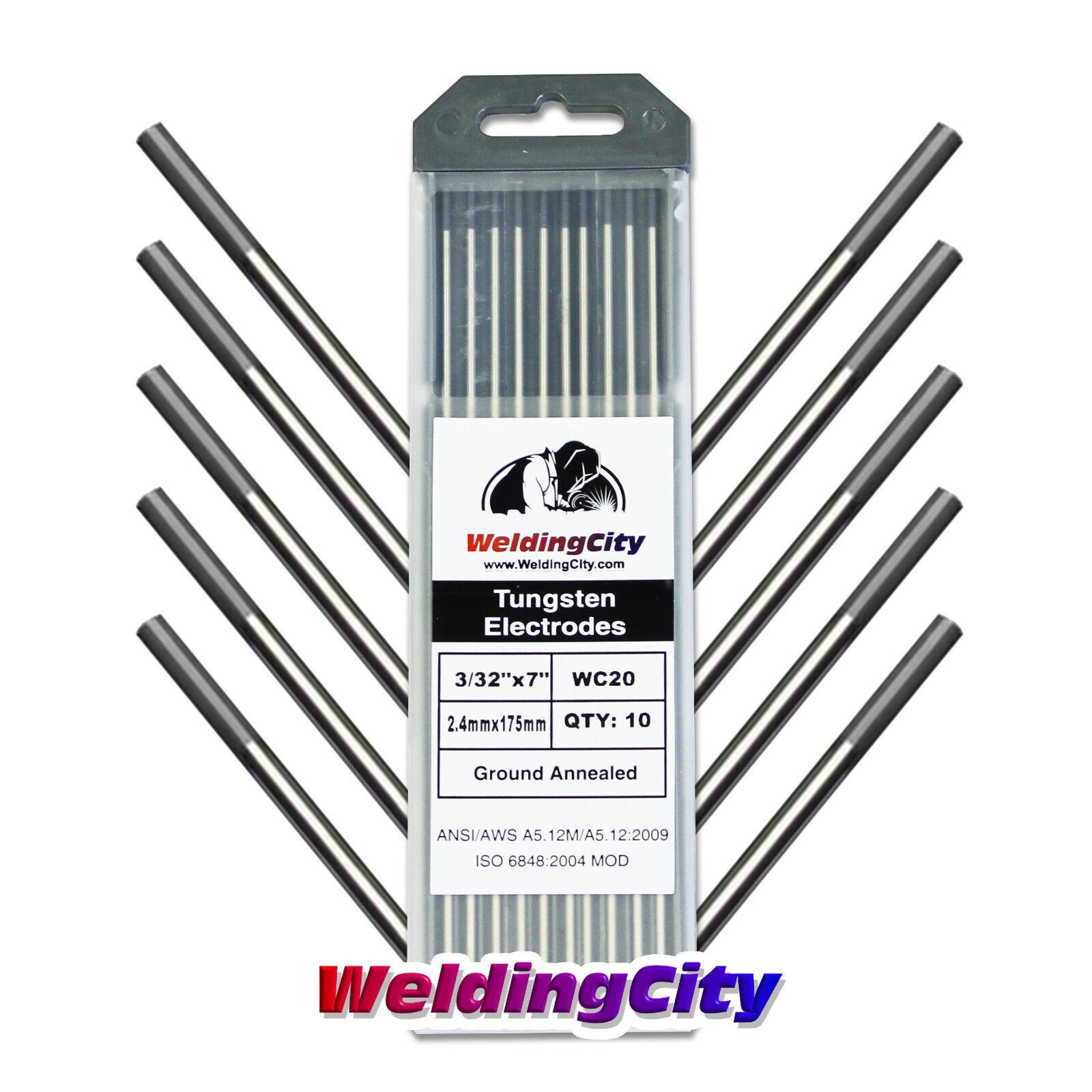 "5-pk TIG Welding Tungsten Electrode 2/% Ceriated .040/""x7/""US Seller Fast Gray"