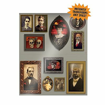 Halloween Haunted House Mansion Gothic Scary Picture Scene Setter Decoration - Halloween Scary Movie Scenes