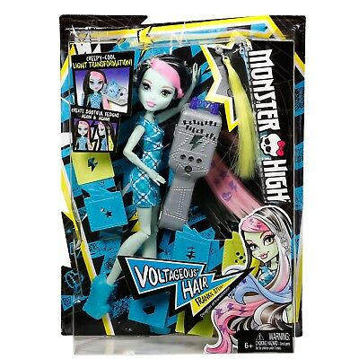 Mattel Monster High Voltageous Hair Frankie Stein Doll Toy RETIRED
