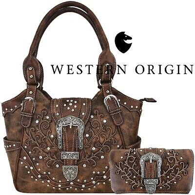 Western Buckle Concealed Carry Purse Country Handbags Women Shoulder Bags Wallet