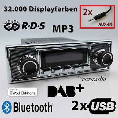 Retrosound San Diego DAB+ Komplettset Becker Oldtimer Radio USB MP3 Bluetooth Iphone Ipod Nano Mp3