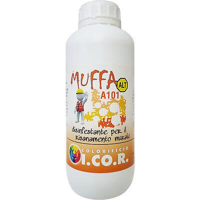 Muffa A101 Disinfestante Antimuffa per Muri Interni ed Esterni 1 litro I.Co.R