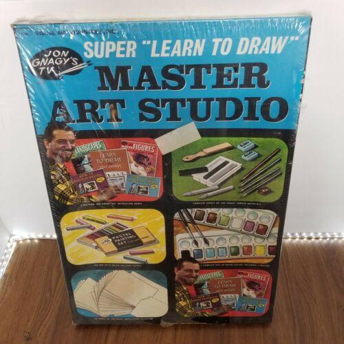 Vintage Jon Gnagys SUPER Learn To Draw MASTER Art Studio NEW SEALED